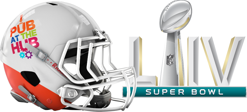 community-classroom-project-pub-at-the-hub-lp-super-bowl-LIV-logo-helmet